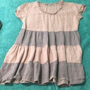 Couleur Lin Dresses & Skirts | Cute Layered Pink Dress | Poshmark
